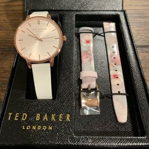 """NWT """"Ted Baker /London""""  Multi Leather Band Watch"""